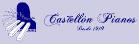Logo Castellon Pianos azul fondo transparente